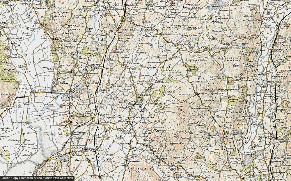 Old Map of Endmoor, 1903-1904 in 1903-1904