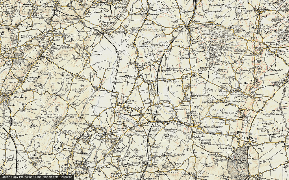 Old Map of Historic Map covering Acton Lodge in 1899