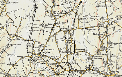 Old map of Acton Lodge in 1899