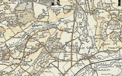 Old map of Englefield in 1897-1900