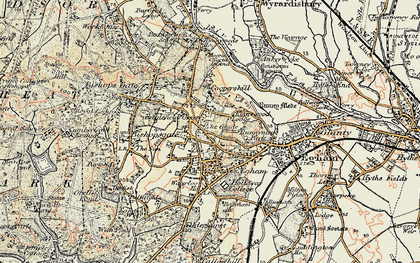 Old map of Englefield Green in 1897-1909