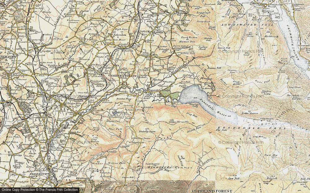 Old Map of Historic Map covering Lanefoot in 1901-1904
