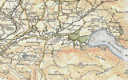 Old map of Lankrigg Moss in 1901-1904