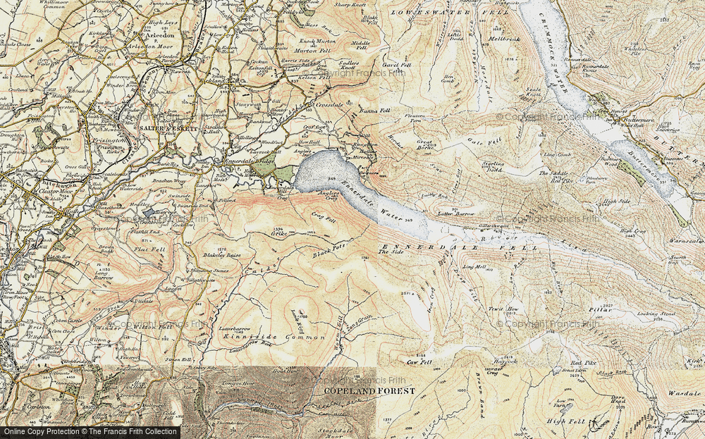 Old Map of Historic Map covering Whoap in 1901-1904