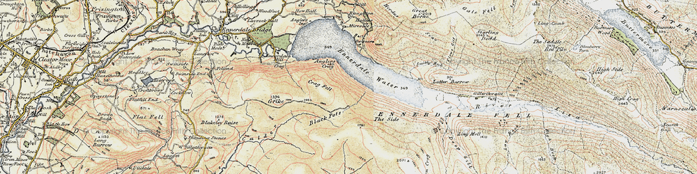 Old map of Whoap in 1901-1904