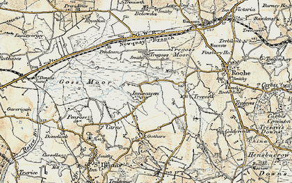 Old map of Enniscaven in 1900