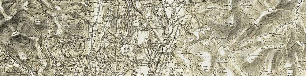 Old map of Alton in 1904-1905