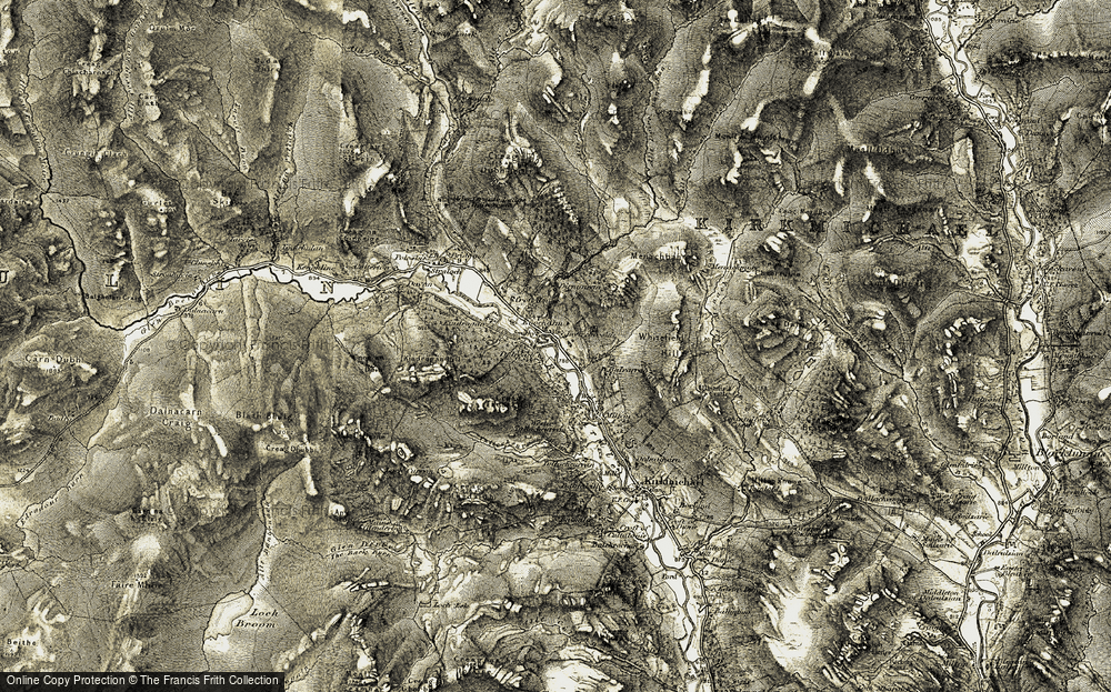 Old Map of Enochdhu, 1907-1908 in 1907-1908