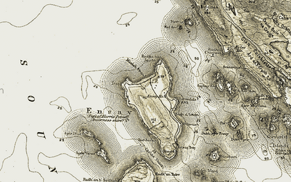 Old map of Bàgh a' Chotain in 1908-1911