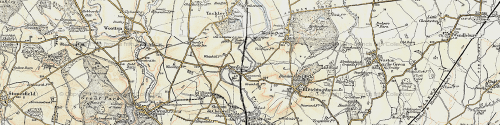 Old map of Whitehill Earth Station in 1898-1899