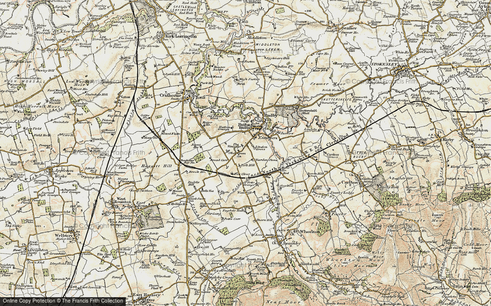 Old Map of Historic Map covering Toft Hill in 1903-1904