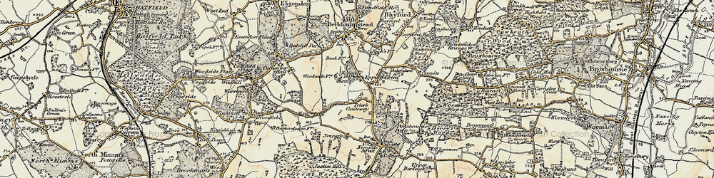 Old map of Woodcock Lodge in 1898