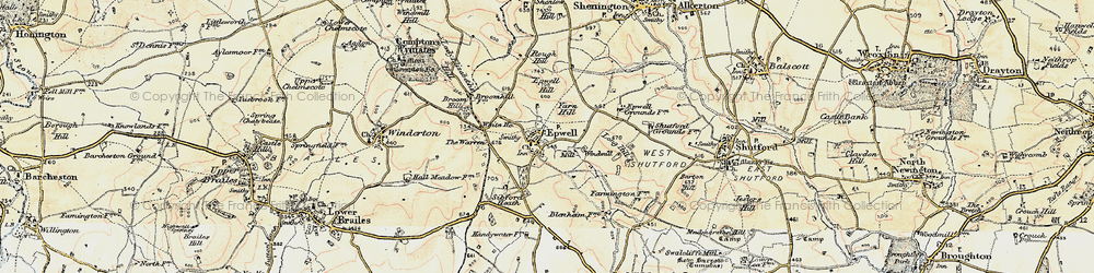 Old map of Yarn Hill in 1898-1901