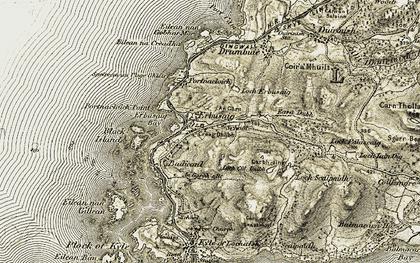Old map of Erbusaig in 1908-1909