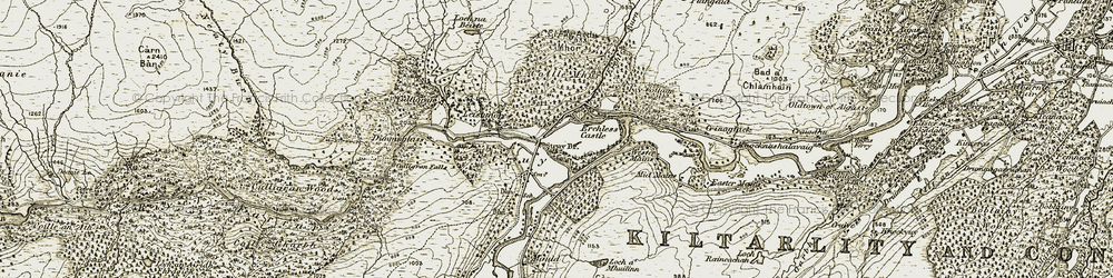 Old map of Wester Main in 1908-1912