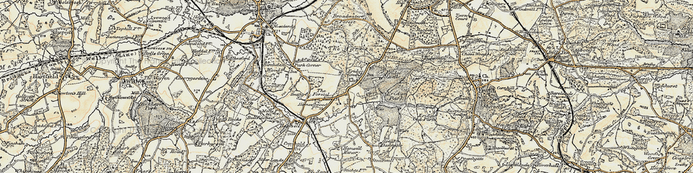 Old map of Eridge Green in 1897-1898