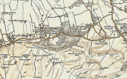 Old map of Erlestoke in 1898-1899