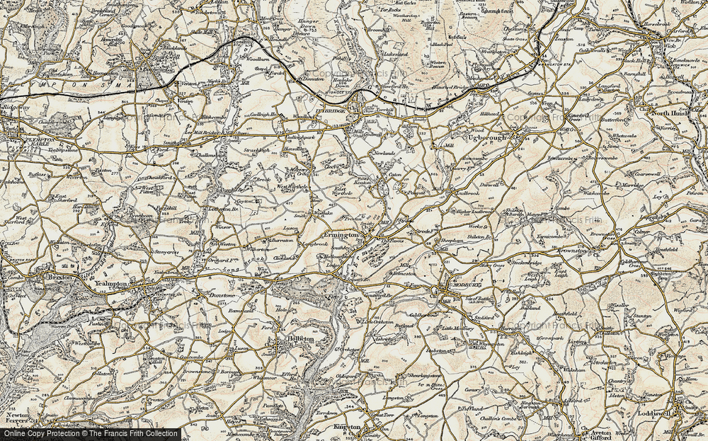 Old Map of Ermington, 1899-1900 in 1899-1900