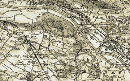 Old map of Linburn in 1905-1906