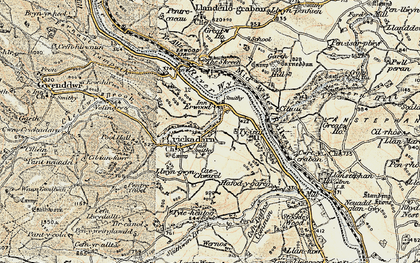 Old map of Erwood in 1900-1902