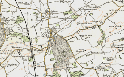 Old map of Escrick in 1903