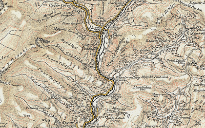 Old map of Esgairgeiliog in 1902-1903
