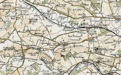 Old map of Langley West Ho in 1901-1904
