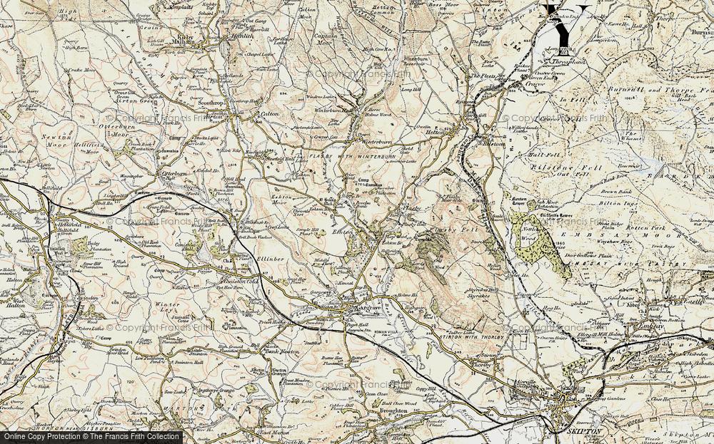 Old Map of Eshton, 1903-1904 in 1903-1904