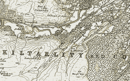 Old map of Allt an Lòin in 1908-1912