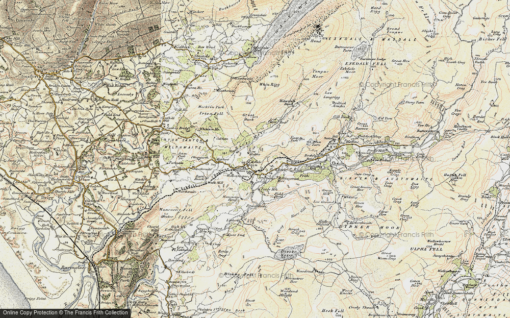 Old Map of Historic Map covering Linbeck in 1903-1904