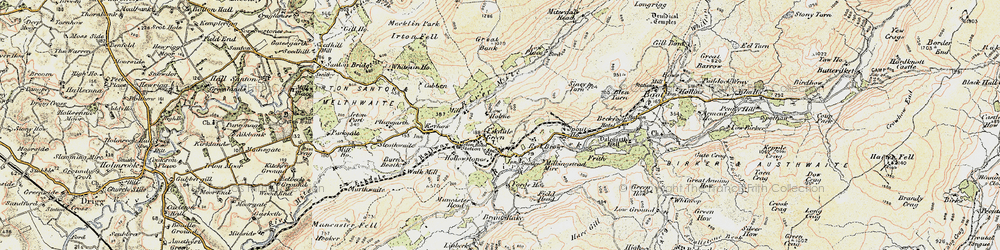 Old map of Eskdale Green in 1903-1904
