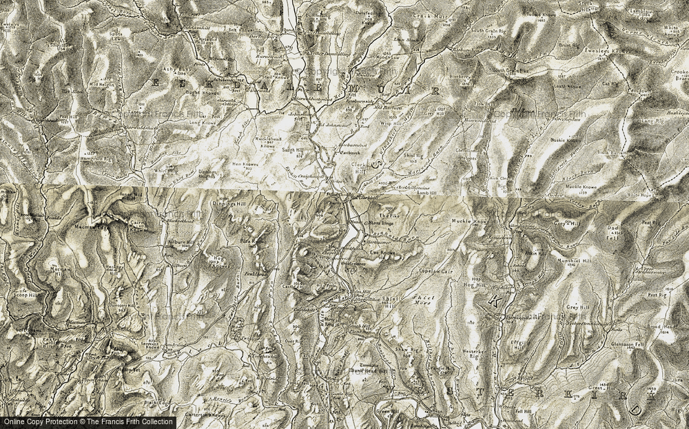 Old Map of Historic Map covering Allangillfoot in 1901-1904