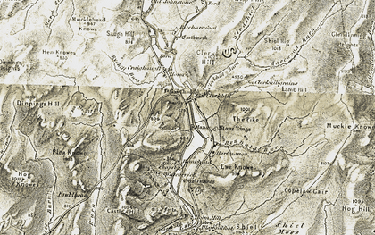 Old map of Allangillfoot in 1901-1904