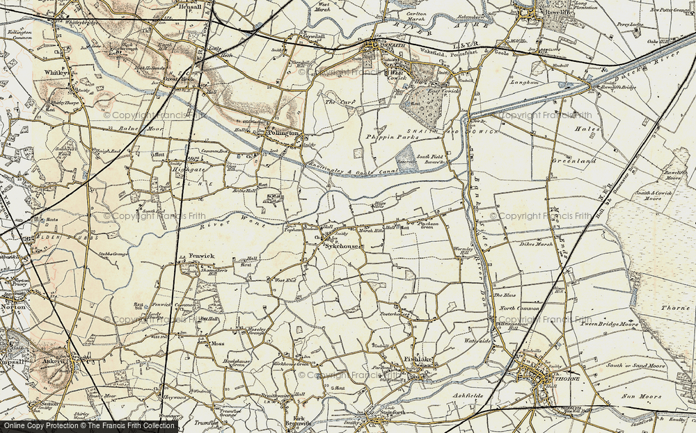 Old Map of Historic Map covering Balne Croft in 1903