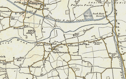 Old map of Balne Croft in 1903