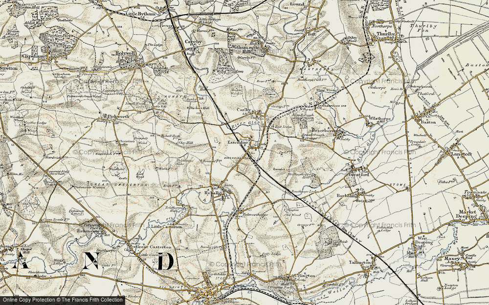 Old Map of Historic Map covering Tolethorpe Oaks in 1901-1903