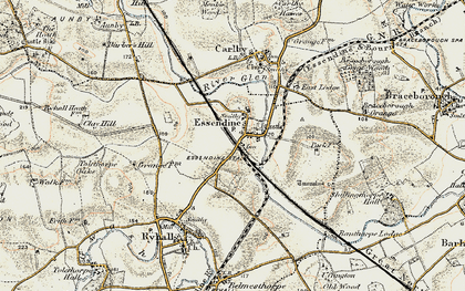 Old map of Tolethorpe Oaks in 1901-1903