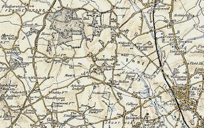Old map of Essington in 1902