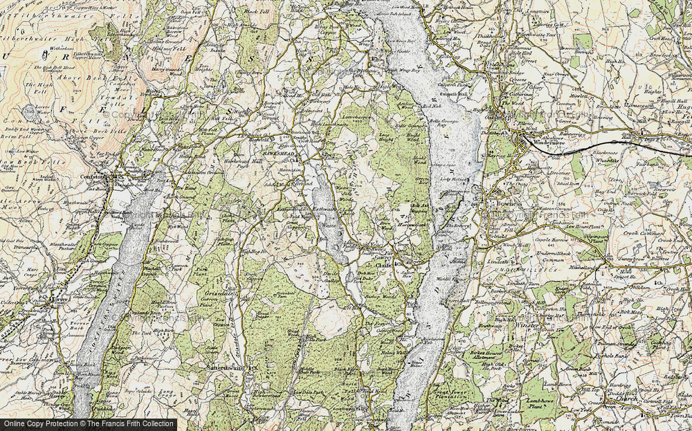 Old Map of Esthwaite Water, 1903-1904 in 1903-1904