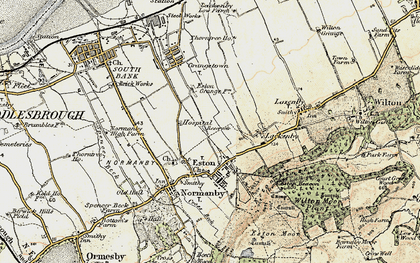 Old map of Eston in 1903-1904