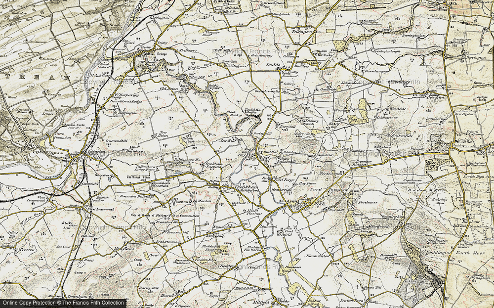 Old Map of Historic Map covering Letham Hill Haugh in 1901-1903