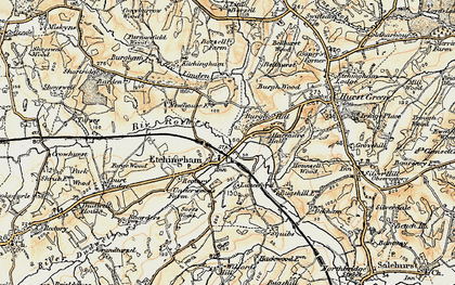 Old map of Etchingham in 1898