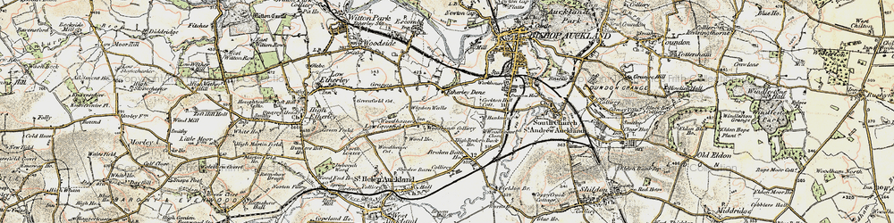 Old map of Woodhouses in 1903-1904
