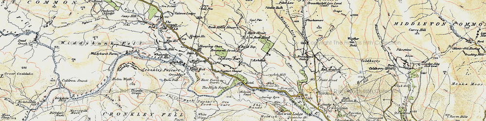 Old map of White Mere in 1904
