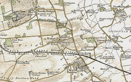 Old map of Etton Pasture School in 1903-1908