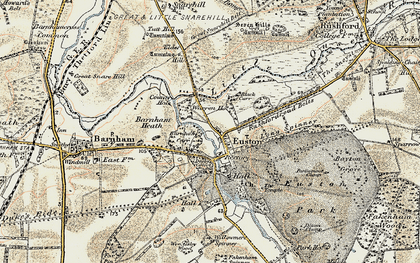 Old map of Wrottesley Wood in 1901