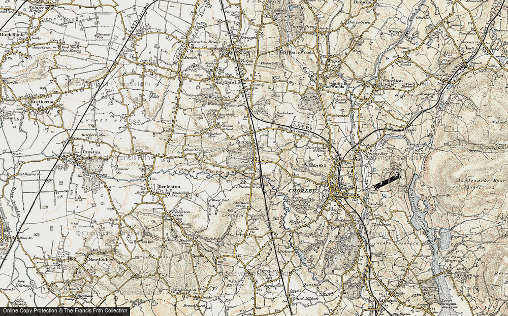 Old Map of Historic Map covering Woodcock Fold in 1903