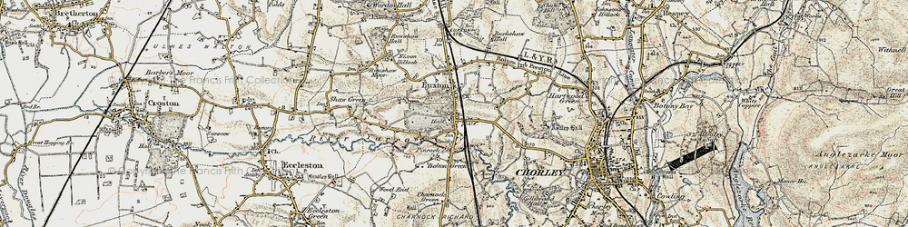 Old map of Woodcock Fold in 1903
