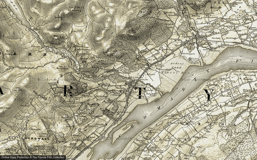Old Map of Historic Map covering Assynt Ho in 1911-1912