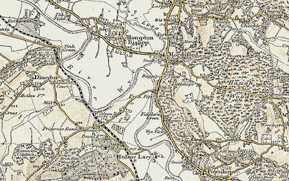 Old map of Bagpiper's Tump in 1899-1901